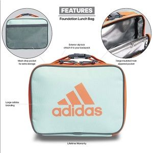 Adidas Foundation Insulated Lunch Bag Mint / Coral